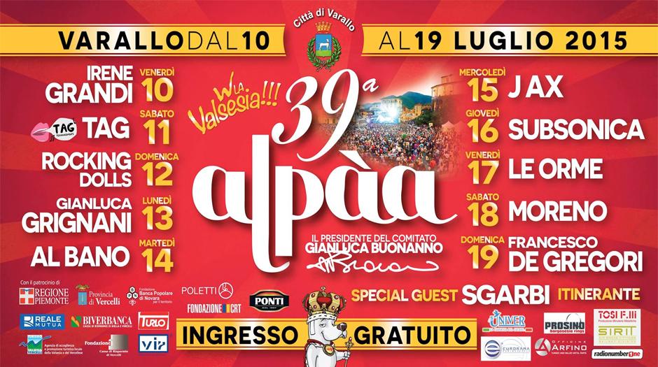 Al via la 39a edizione dell'Alpàa
