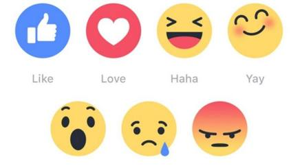 Ecco i Reaction di Facebook