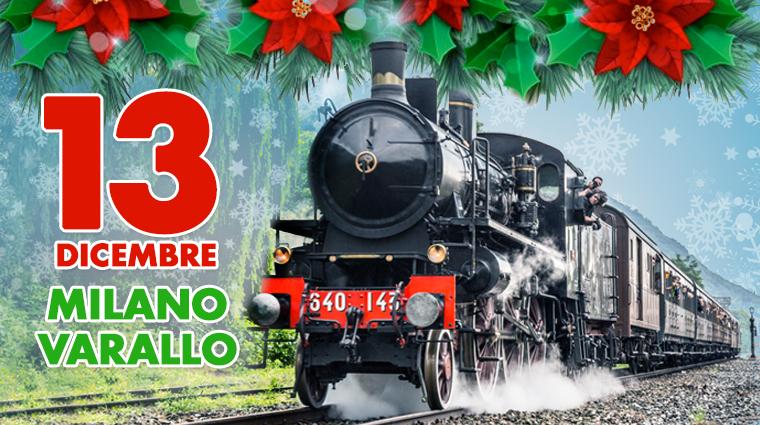 Treno storico in Valsesia per Natale